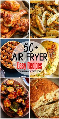 Easy Air Fryer Recipes Make your meals fast & easy with these Easy Air Fryer Recipes! Air fried recipes are healthier & still so delicious - so you can't go wrong with these! Make your meals fast & easy with these Easy Air Fryer Recipes! Air Frier Recipes, Air Fryer Oven Recipes, Air Fryer Dinner Recipes, Recipes For Airfryer, Airfryer Breakfast Recipes, Air Fryer Recipes Potatoes, Air Fryer Recipes Appetizers, Actifry Recipes, Party Appetizers