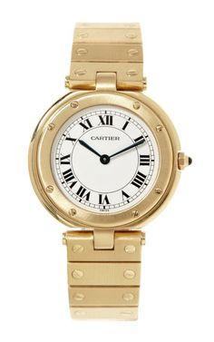 Cartier 18K Yellow Gold Vendome Santos Quartz Watch From Beladora by Beladora for Preorder on Moda Operandi