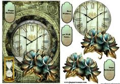 Male Card Time 2 on Craftsuprint designed by Marijke Kok - great design for a male card - Now available for download!