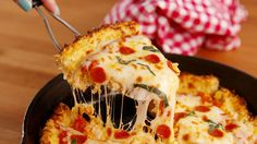 Deep Dish Cauliflower Pizza | comfort food | healthier crust | gluten free |