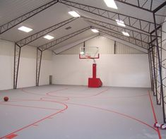 Basketball court in