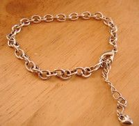 """New Listing Started silvertone chain bracelet 7""""long extends 2"""" in very good condition £1.45"""
