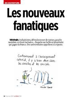 A revista «Le point» publicou uma reportagem sobre a resistência dentro das universidades francesas ao fanatismo intolerante das ideologias identitárias e «decolonialistas» France, Le Point, Ecards, Memes, Geography, Journals, E Cards, Meme
