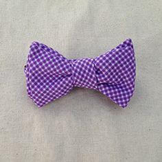 Tadpole and Lily purple bowtie #plaid #kids