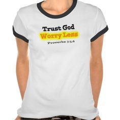 Trust God Ladies Ringer T-Shirt