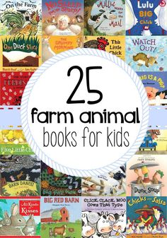 25 Farm Animal Books for Kids. This is a great collection of books to read with preschoolers & kindergarteners.