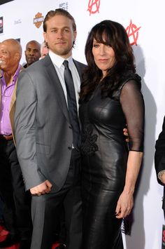 """Charlie Hunnam and Katey Sagal arrive at FX's """"Sons of Anarchy"""" Season 6 Premiere Screening and Party.#SOAFX"""