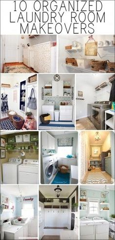 LAUNDRY ROOM MAKEOVER IDEAS.  Hang coats in laundry room???