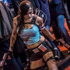 Paris Game Week 2012, Lara Croft cosplay. Love the attention to detail.