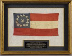 This flag is very unique in that it is the only Lee family Confederate flag still in private hands. The provenance is certain as the flag was passed down to Sidney Smith Lee's son, Confederate General Fitzhugh Lee who was later Governor of Virginia. From the CW Gazette