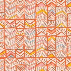 Leah Duncan - Meadow - Geos in Bright Mandarin