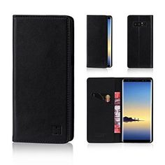 Samsung Galaxy Note 8 Wallet Case Leather Card Slots Magnetic Closure Black for sale online Samsung S8 Note, Notes, Wallet, Cards, Leather, Ebay, Report Cards, Notebook, Maps