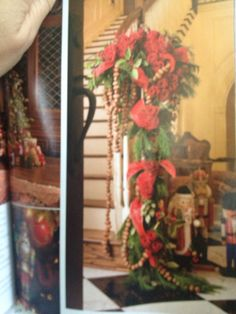 Beautiful staircase Christmas garland. From Victoria Classics Holiday Bliss 2013.