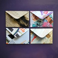 Check out how to make envelopes out of old magazines! Love it!