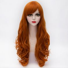 $11.06 Assorted Color Charming Harajuku Layered Long Side Bang Capless Wavy Synthetic Wig For Women