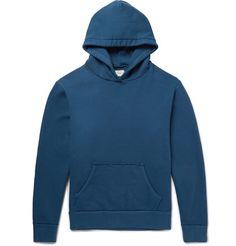 SIMON MILLER Raw-Edged Loopback Cotton-Jersey Hoodie. #simonmiller #cloth #sweats