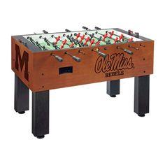 Ole Miss Rebels Laser Engraved Foosball Table Soccer