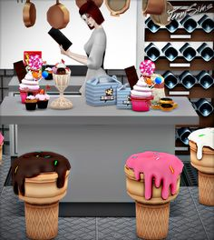 Jennisims: Downloads sims 4: Candylicious Set Vol 43 Decoratives,Chair Functional (8 items)