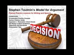 ARGUMENT WRITING (Based on the Stephen Toulmin Model) Components of Argument Writing PowerPoint include:  (1) 18 Individual Practice Prompts (2)  Framework Templates (3) Argument v. Persuasive Cheat Sheets (4) Partner Practice Guides ((5) Get Ready to Write Guidelines (6) Objectives and Common Core State Standards (7) Presentation Tips (priced)