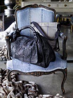 blue jean chair