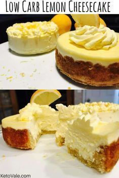 Low Carb Lemon Cheesecake - The Best 11 Keto Dessert Recipes! - Low Carb Lemon Cheesecake – The Best 11 Keto Dessert Recipes! Keto Desserts, Keto Friendly Desserts, Dessert Recipes, Dinner Recipes, Baking Desserts, Milk Recipes, Dinner Menu, Pasta Recipes, Breakfast Recipes