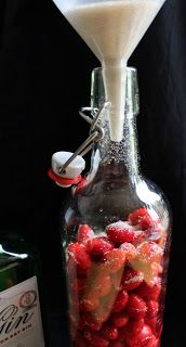 I've walked roads and lane ways looking for sloes this year to make sloe gin, but haven't found any. I have an old fashioned, wild rose . Gin Drink Recipes, Alcohol Recipes, Yummy Drinks, Cold Drinks, Beverages, Rosehip Syrup, Rosehip Tea, Apple Recipes, Sweet Recipes