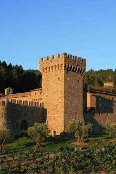 A perfect replica of a European castle in Napa Valley