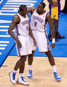 I love pics like this...Serge Ibaka & Kendrick Perkins Second Look Gallery Game 5   THE OFFICIAL SITE OF THE OKLAHOMA CITY THUNDER
