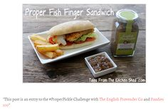 Proper Fish Finger Sandwich By Competition Winner Tales From The Kitchen Shed. www.englishprovender.com