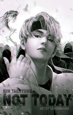BTS Fan Art : V Kim Taehyung No Today Monochrome