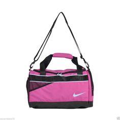 e8d7f83382 Nike medium varsity duffle bag pink black gym travel nwt duffel ba4732 641