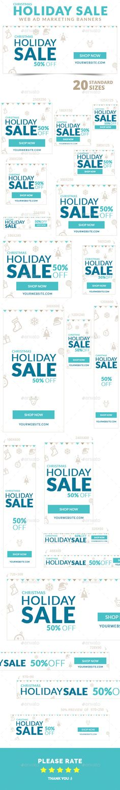 Christmas Holiday Sale Web Ad Marketing Banners Template PSD | Buy and Download: http://graphicriver.net/item/christmas-sale-banners/9717597?ref=ksioks