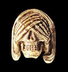 Bronze See no Evil Skull Ring from Jax Biker Jewellery by DaWanda.com