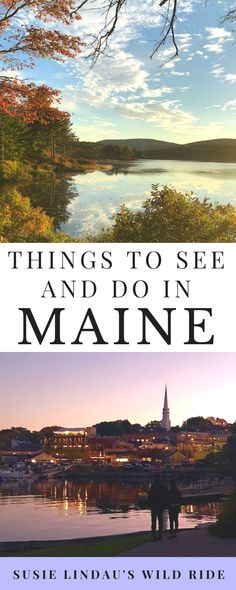 Inspired by Stephen King country, here's a list of things to see and do when visiting Maine #travel #traveldestinations #Maine