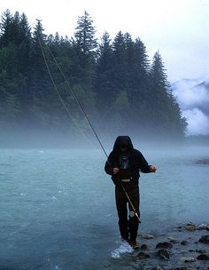Just the thought of Alaska and salmon fishing in the same mental picture conjures images of grandeur, pristine forest, snowy peaks, and a pole bent double Salmon Fishing, Trout Fishing, Bass Fishing, Gone Fishing, Fishing Tips, Alaska Fishing, Fishing Stuff, Fishing Humor, Lost In America