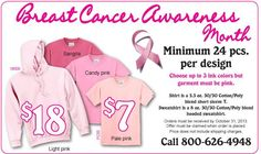 Photo: October is Breast Cancer Awareness Month! Do you have an event you need T-Shirts or Sweatshirts for? Check out this deal! Give us a call at 800.626.4948 we'd be happy to help!