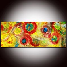 Large Original Abstract Painting by Andrada  60x24 by andrada, $429.00