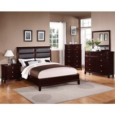 Dark Wood Bedroom Furniture paint colors with dark wood furniture | room ideas | pinterest