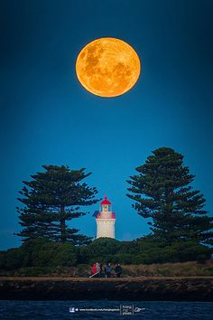 Super Moon - Port Fairy, Victoria, Australia