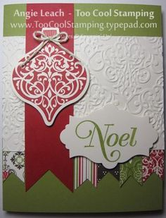 Ornament with Candlelight Christmas banners - red