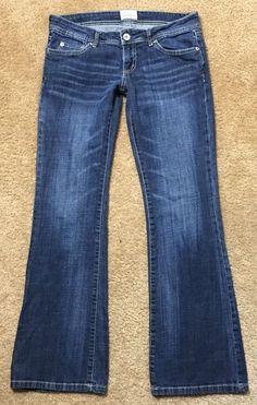 Aeropostale Haley Flare Jeans Size 5/6 Reg Dark Distressed Flap Pockets    eBay