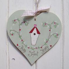 Home sweet home heart door hanger!