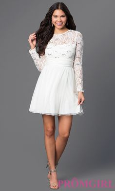 Short Long Sleeve V-Back Dress Style: SS-D62841HJL