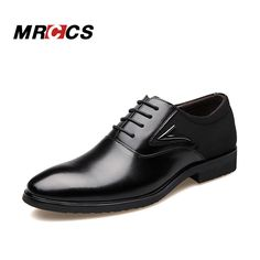 MRCCS Big Size 38-48 Men's Formal Oxford Dress Shoes,Elegant Pointed Toe Design,Microfibr Leather Meeting Office Wedding Wear
