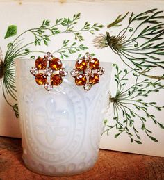 Vintage Amber Earrings