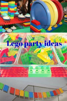 Lego party ideas. Lego baby shower.
