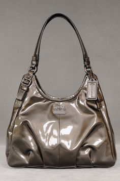 Coach Madison Patent Maggie In Pewter - Beyond the Rack  Perfect for a weekend purse!