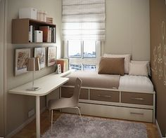 Like the idea of having something like a windowseat/bed to lounge out on to read while studying
