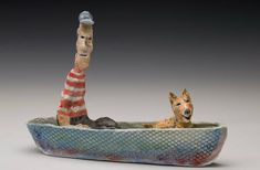 Ruby Wolfman: Boat with Old Man & Dog
