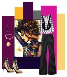 """""""Mad About Plaid"""" by janetvera on Polyvore featuring Rachel Zoe, Kenneth Jay Lane, Botkier and Givenchy"""